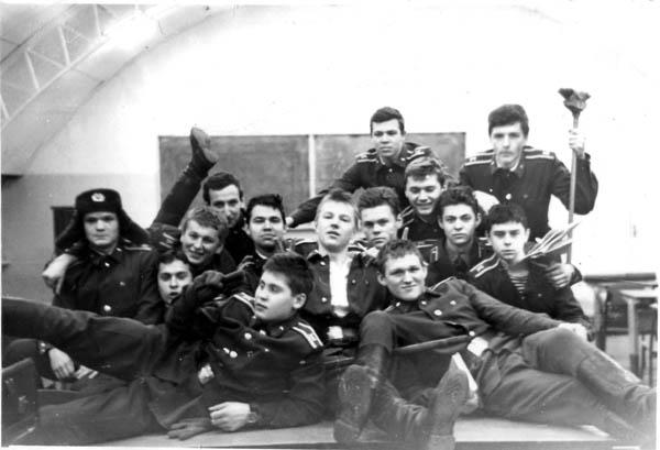 Пятая группа АО вып. 1987 на сампо в Е-2 (первый курс)