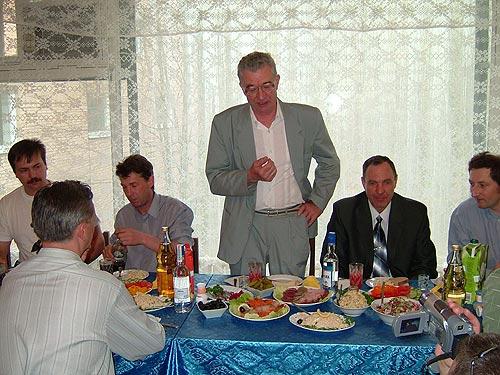 Застолье: Тостующий - профессор Бочкало Борис Иванович