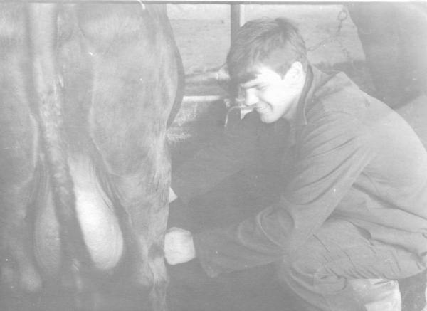 В колхозе (наверное Ропожи) Дёма Наранович занимается сельхозработами.