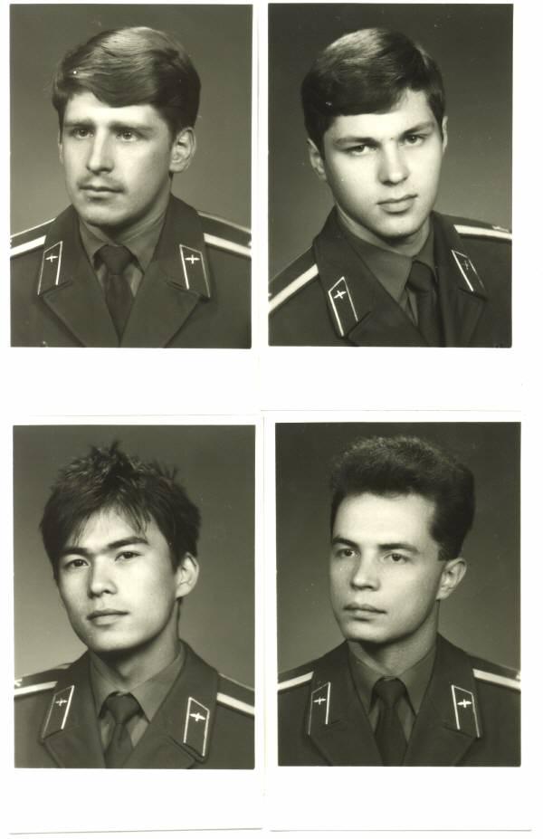 155 группа 1990г Мягков,Грунин,Ахмедов и Шведов