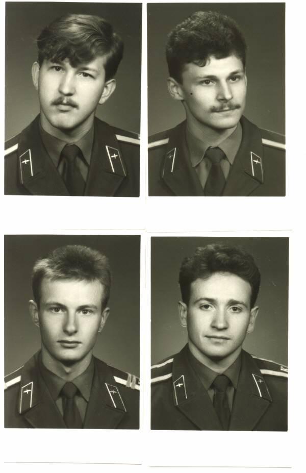 155 группа 1990г Хамичёнок, Выскрибенцев, Пелепец и Леонтий