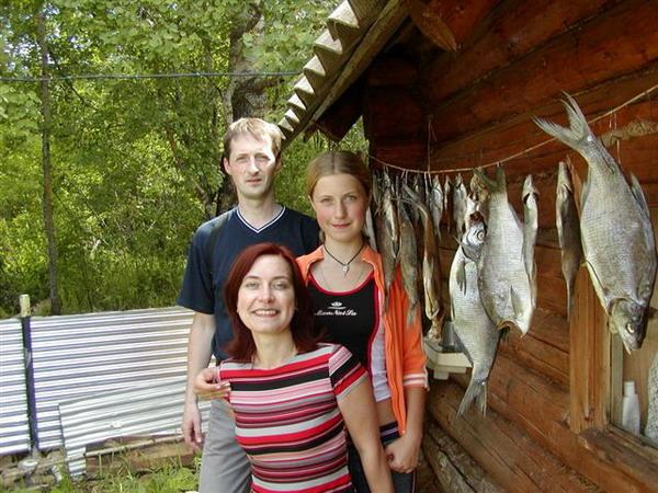 С семьей, Селигер 2005