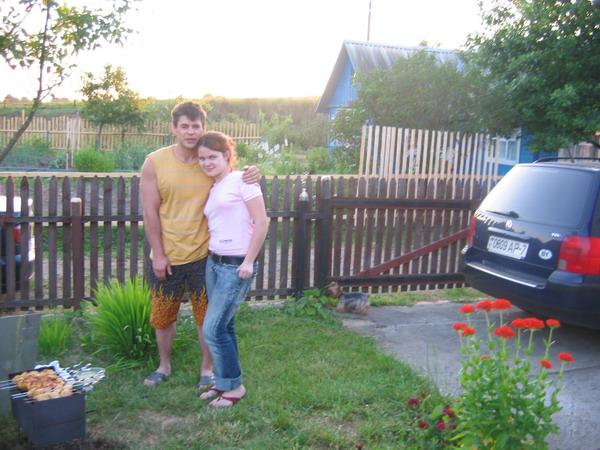 Щукин с дочерью