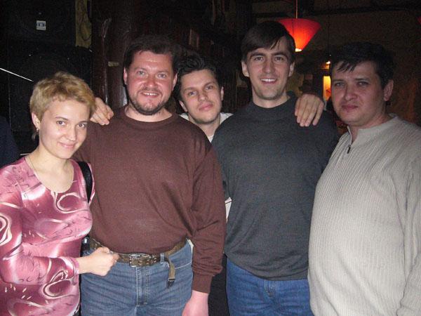 Сидоренко с супругой, Пасюков, Волович и Скворцов