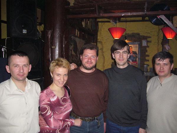 Панов, Сидоренко с супругой, Пасюков, Волович и Скворцов