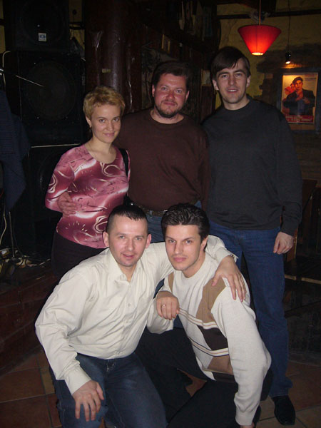 Сидоренко с супругой, Волович(Вверху), Панов и Пасюков (внизу)
