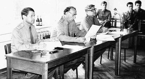 Защита дипломных проектов на факультете АО, 1986 год.