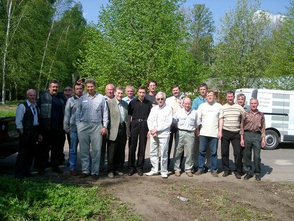 Встреча 8 Мая на территории училища